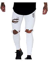 enorme sconto b3267 c1f6a Amazon.it: Pantaloni Bianchi Jeans Uomo: Abbigliamento