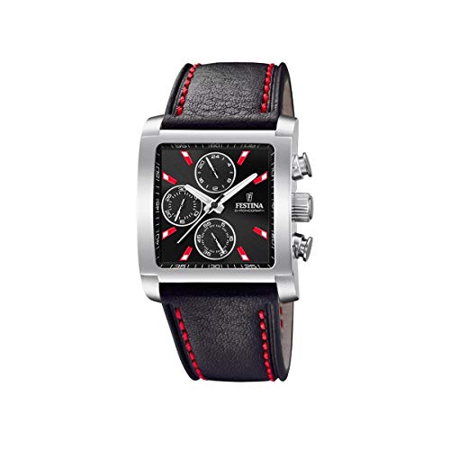 Festina Herren Chronograph Quarz Uhr mit Leder Armband F20424/8