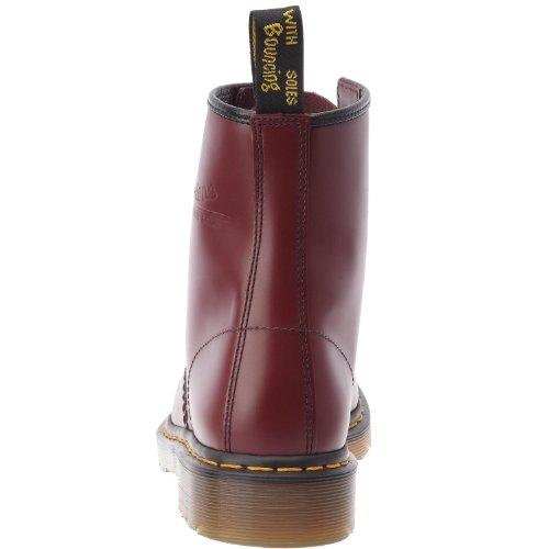 Dr Martens 1460 unisexe en cuir souple Rouge cerise 8 Oeillets Chaussures à lacets Cerise