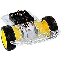 Alexsix 2WD Smart Robot Car Chassis Kit Speed Encoder Battery Box 2 Motor 1:48