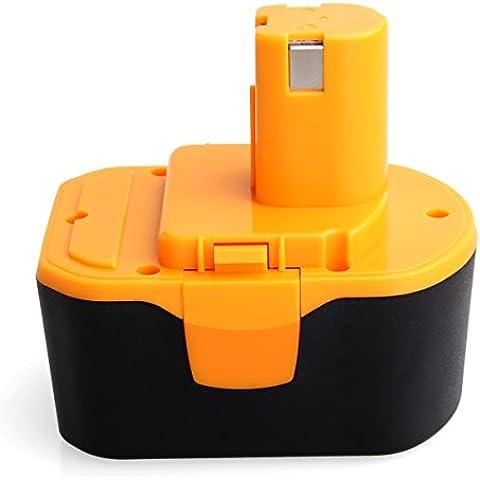 flagpower 14,4V 3000mAh Ni-MH batería para herramienta eléctrica de repuesto para RYOBI 14006714400011130111073130224010130224011130224017130240010130245005130281002B-1415-S B-1442T