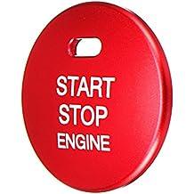 Sharplace Tapa de Botón de Inicio de Motor Engine Start Button Cover Cap Trim para Mazda