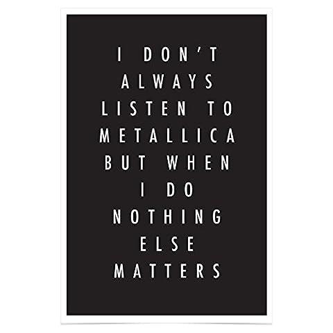 Jim Starks PH347A1 Metallica Poster Nothing Else Matters Premium Fotopapier 61 x 91,5 cm
