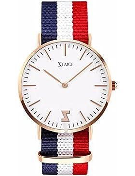 ZEMGE Männer Frauen Uhren Ultra Thin Quarz Analog Wasserdichte Armbanduhr Unisex Business Casual Einfache klassische...