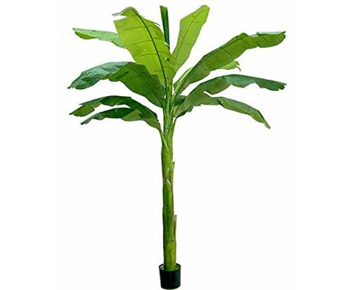 Bananen Kunstpalme grün UV-sicher mit 210cm und 11 Blättern – künstlicher Bananenbaum