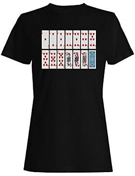 Nuevas Cartas De Poker Suerte De Juego camiseta de las mujeres i574f