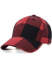 Zoylink Gorra De Béisbol Para Hombre Sombrero Ajustable Patrón De Tela  Escocesa Sun Golf Cap Para dca5fb12833