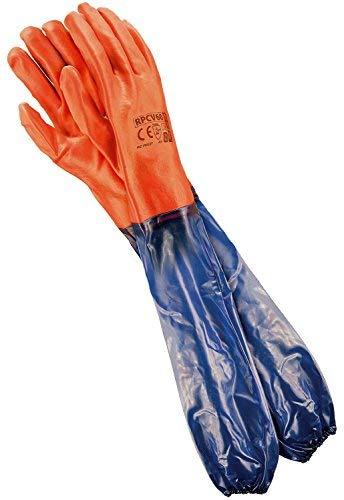 REIS Lange Arbeitshandschuhe für Mechanische Arbeit   Wasserdichte Handschuhe   Ideale Teichpflege-Handschuhe oder Sandstrahlhandschuhe   EN388 & EN420   Größe: 10.5