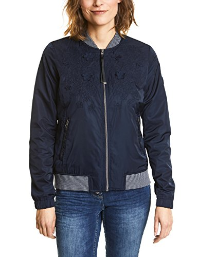 Cecil Damen Jacke 200440, Blau (Deep Blue 10128), X-Small