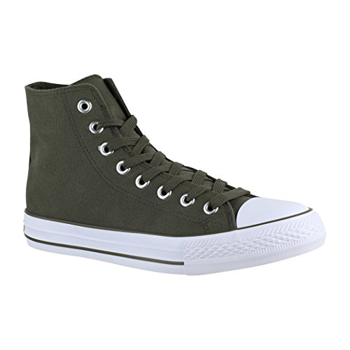 High Top Turnschuh Textil Guantes 36?–?47, Color Gris, Talla 38