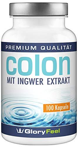 Der VERGLEICHSSIEGER 2018* Colon Cleanse - 100 vegane Kapseln - Ballaststoff-Komplex mit Ingwer Extrakt und Flohsamenschalen - Laborgeprüft und ohne Zusätze hergestellt in Deutschland