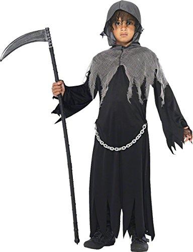 Grim Kostüme Reaper (Smiffy's 35987L Grim-Reaper-Kostüm, L,)