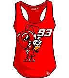 Marc Marquez - Camiseta de Tirantes para Mujer, diseño de Dibujos Animados, Color Rojo X-Large