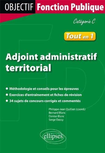 Adjoint Administratif Territorial Tout en 1 Catgorie C