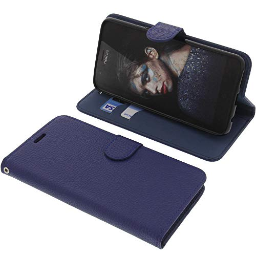 foto-kontor Tasche für TP-Link Neffos N1 Book Style blau Schutz Hülle Buch