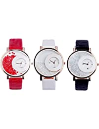 MXRE COMBO RED WHITE BLACK ANALOG WATCH BY DV ENTERPRISE DESIGN