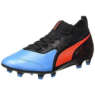 Puma Herren ONE 19.3 FG/AG Fußballschuhe, Blau (Bleu Azur-Red Blast Black), 46 EU