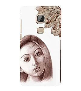 PrintVisa Stylish Cool Girl Sad Sketch 3D Hard Polycarbonate Designer Back Case Cover for LeEco Le 2 Pro