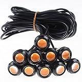 #10: Tradico® New Daytime Reverse Amber Eye Signal Light Lamp Eagle 9w Led Yellow Car 12v Drl