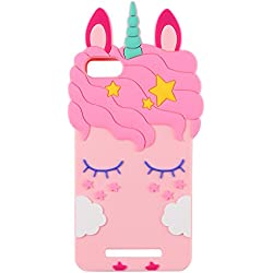Mulafnxal Pink Unicorn Licorne Coque pour Wiko Lenny 3/Jerry,Housses de téléphone,TPU Silicone Etui,Mignon 3D Cartoon Dessin Animé Animaux Licorne Souple Fille,Cute Kids Girls Case pour Lenny3