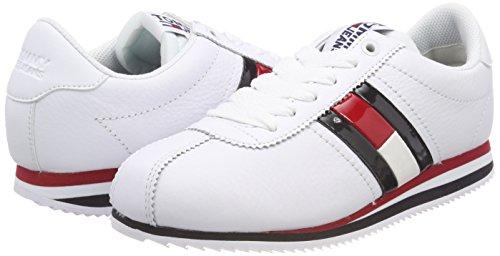 Hilfiger Denim Tommy Jeans Retro Sneaker, Zapatillas para Mujer, Plateado (Silver 000), 42 EU Tommy Jeans