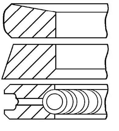 Goetze Engine 08-422000-00 Segments de pistons