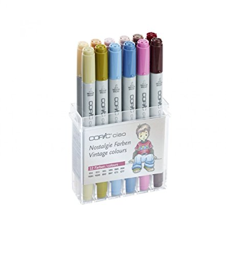 22075703Copic Ciao Set von 12, Farben Vintage - Ciao Marker