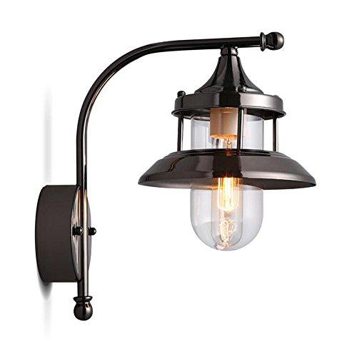 ZT Appliques verre Plaqué Edison E27 Métal LED abat-jour Industriel Intérieur Chevet Éclairage Fixation