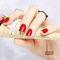 FARMERLY 2018 24pcs short paragraph new cute candy color hot buy fake fingernails complete 22 color Can choose: SN131