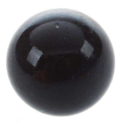 SODIAL(R) 10pzs Marmol 16mm cuchillo de vidrio marmol Bolas de vidrio decoracion color pepita juguete negro