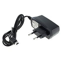 GIGA Fox® Caricatore Cavo di ricarica dati cavo adattatore (Mini USB) 1,2m 1a//Garmin Camper 770LMT-D//carica veloce
