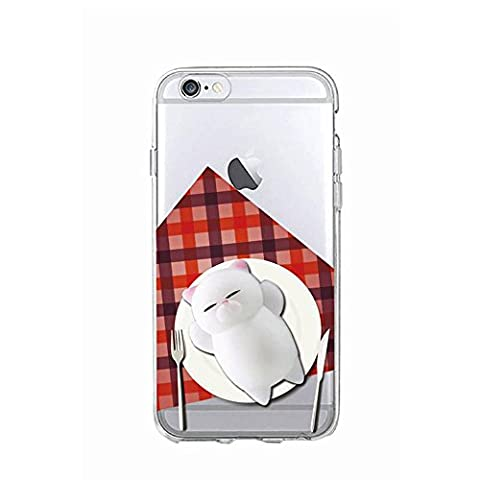 Squishy 3D Animal Cat Chat iPhone 5s Coque, Cute Stress Silicone Fun Case for iPhone 5s / iPhone 5 (Color-C)