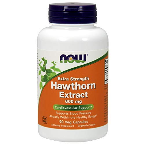 Now Foods - Hawthorn Extract Extra Strength 600 mg. - 90 Vegetarian Capsules, 1 Units