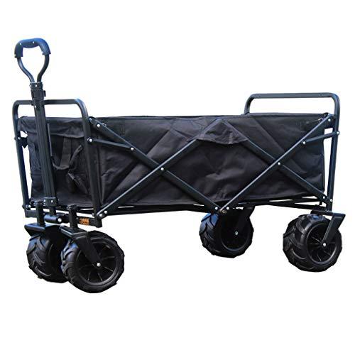 Hjd-shopping cart Outdoor Super große Erhöhung Cargo Angeln Camping Auto Supermarkt kaufen Lebensmittel tragbar Einkaufswagen, a, 108 cm