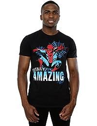 Marvel Herren Spider-Man Totally Amazing T-Shirt X-Large Schwarz
