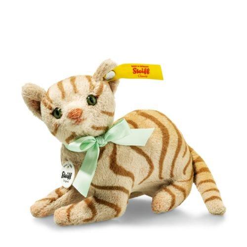 Steiff 031809 Mitzi Katze Plüsch liegend hellbraun 11 CM