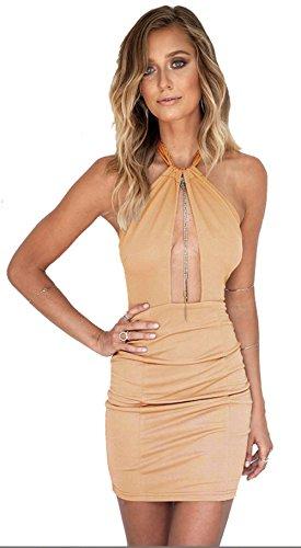 longwu-robe-sexy-femme-beige-x-large