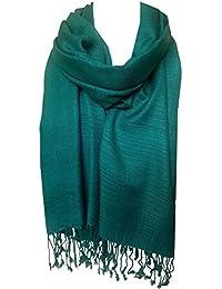 cb2c49eaad59 World of Shawls monde de châles Uni pashmina écharpe hijab écharpe étole  enveloppant haute qualité 100