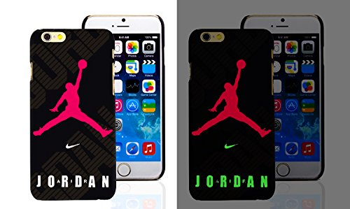 RONNEY'S Air Jordan Luminous PC BLACK Hard Case for Apple Iphone 7 & Iphone 8 DESIGN 12 Design 15