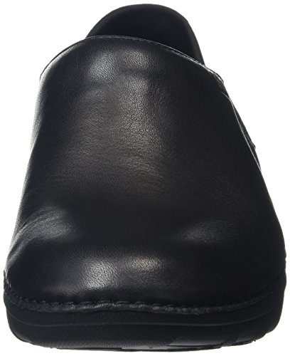 FitFlop Damen Superloafer Leather Slipper Schwarz (all Black)