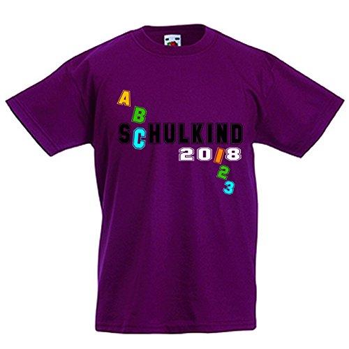 T-Shirt Kurzarm Sommershirt Kindershirt Schulkind 2018 (Shirts Abc)