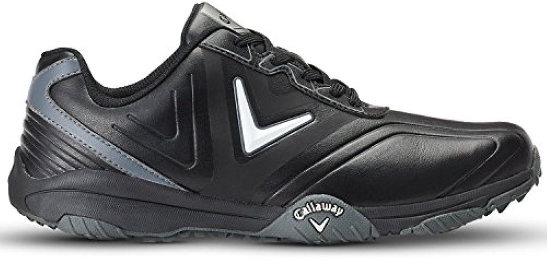 Callaway Chev Comfort Zapatillas de Golf, Hombre, Negro (Black/Plata), 41 EU