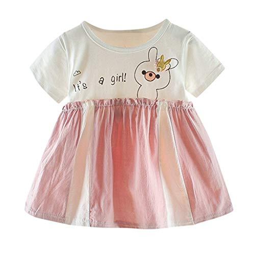(Baby Kleid Yesmile Kinder Einhörner Kleider Mädchen Beiläufig Tiere Karikatur Sommerkleid Geburtstag Urlaubs Party Ankleiden Kleidung Familie Kleid)