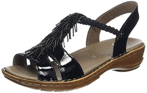 Ara Hawaii, Scarpe Col Tacco con Cinturino a T Donna Nero (01 nero)
