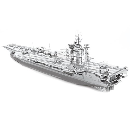 Metal Earth – 5061307 – Modellbau 3D – Iconx – USS Roosevelt Aircraft Carrier – 2-teilig