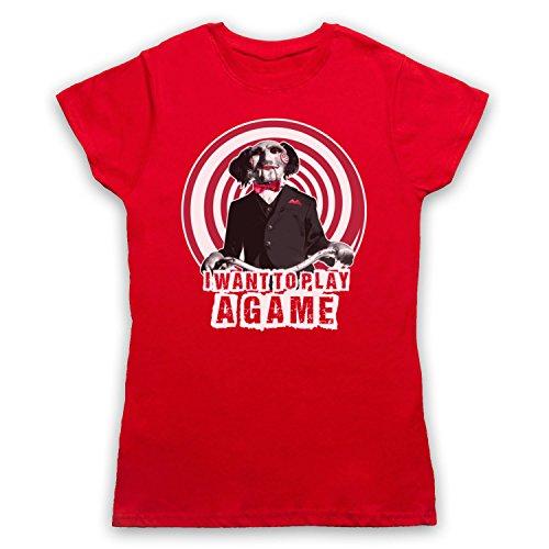Inspiriert durch Saw Billy The Puppet Unofficial Damen T-Shirt Rot