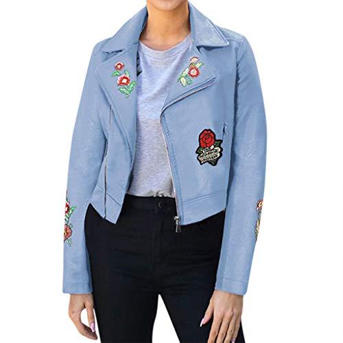 PinkLu Jacken Damen Leader Übergangsjacke Streetwear Hoodies Rose Embroidery Regenjacken Sweatshirt Diagonaler Reißverschluss Kapuzenpullover Hoodies V-Ausschnitt Mäntel Blazer - Ring Leader Kostüm