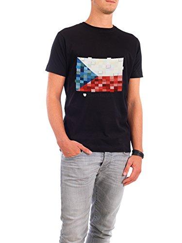 """Design T-Shirt Männer Continental Cotton """"Czech Republic Flag"""" - stylisches Shirt Reise Reise / Länder von GREENGREENDREAMS Schwarz"""