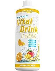 Best Body Nutriton Low Carb Vital Drink Brazilien Sun, 1er Pack (1 x 1 l)