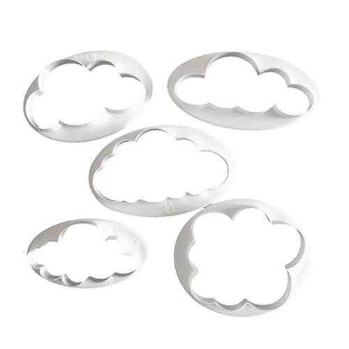 MagiDeal 5pcs Fondant Nube de Patrón Pastel de...